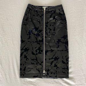 NWT Velvet and Sequin Skirt